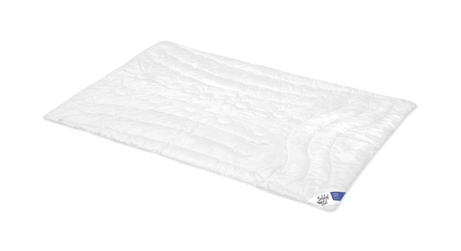 SCHLAFSTIL Kamelhaar-Flaum-Bettdecke N500 extra leicht für den Sommer