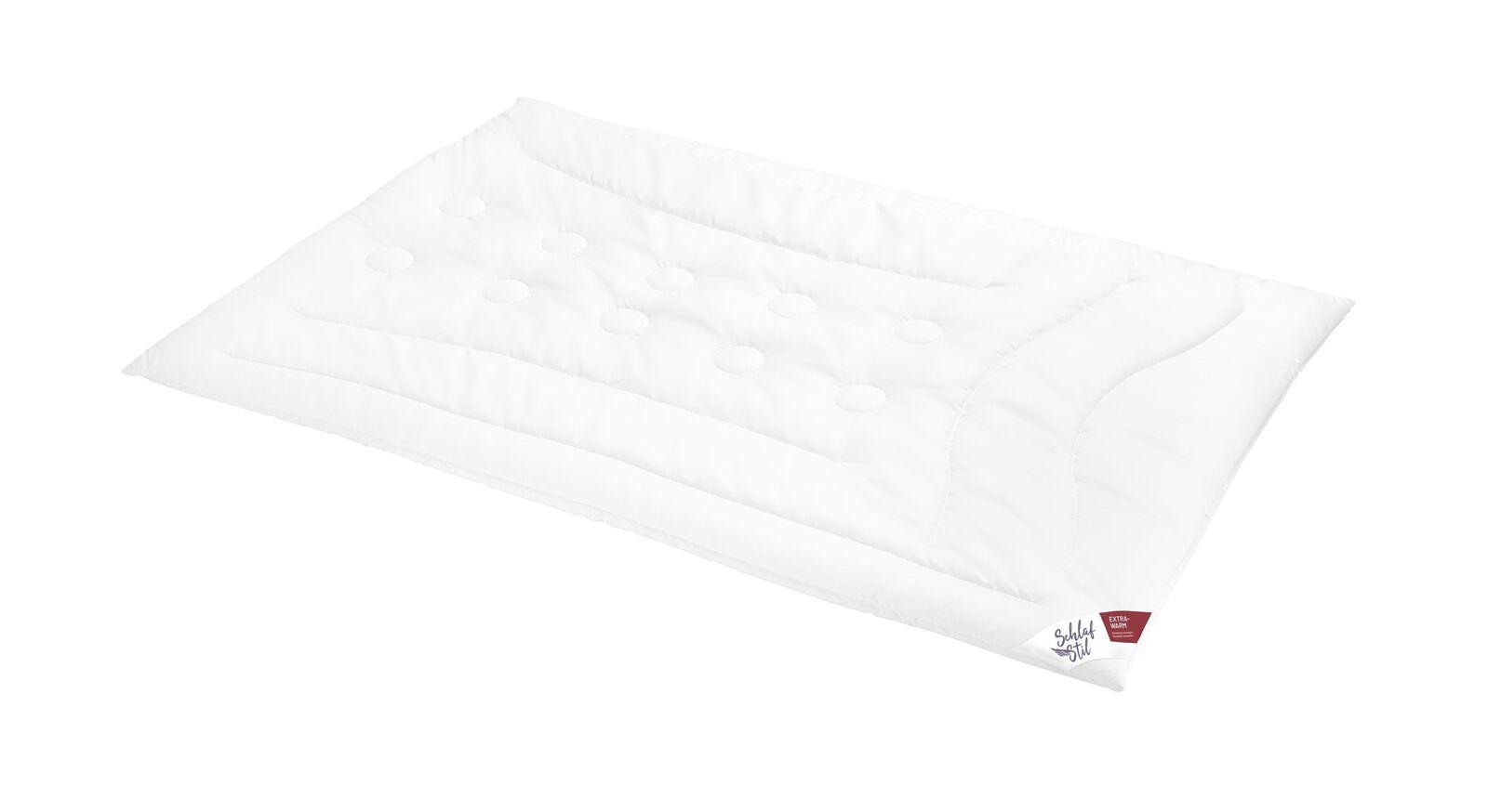 SCHLAFSTIL Kamelhaar-Flaum-Bettdecke N500 extra warm für den Winter