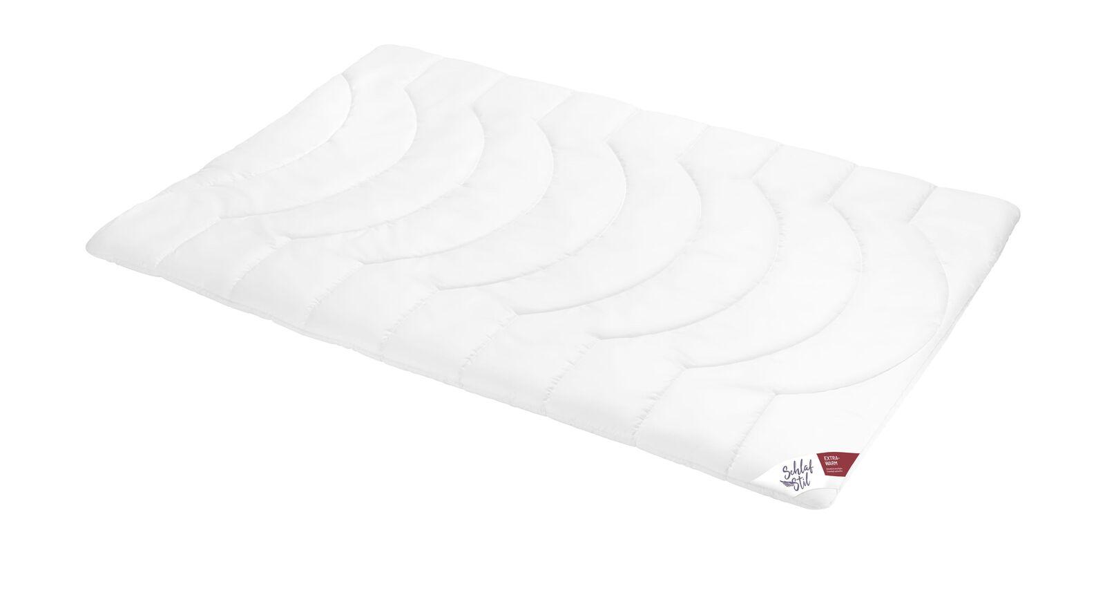 SCHLAFSTIL Markenfaser Bettdecke F200 extra warm für den Winter