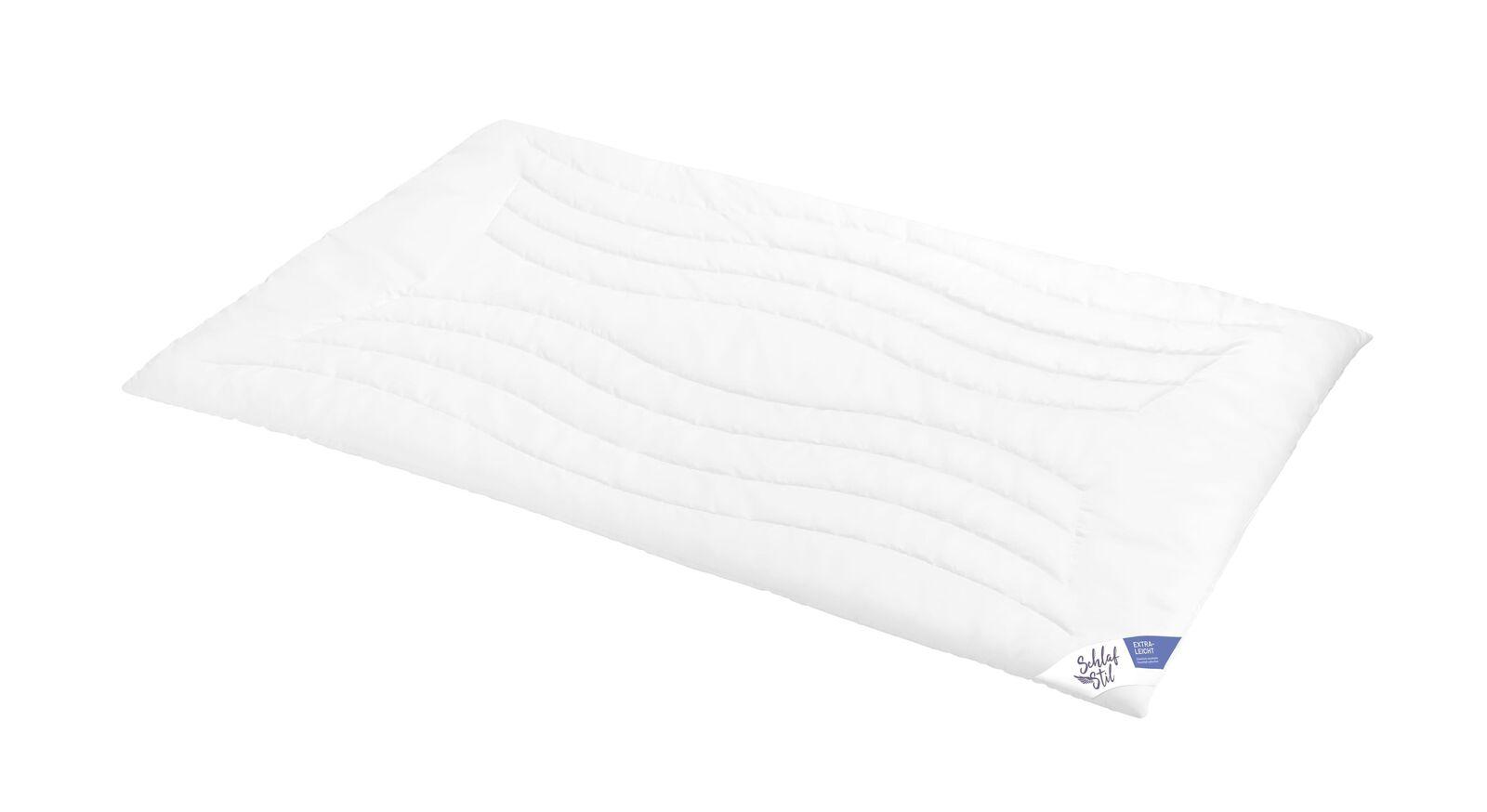 SCHLAFSTIL Markenfaser-Bettdecke F300 extral leicht ideal für den Sommer