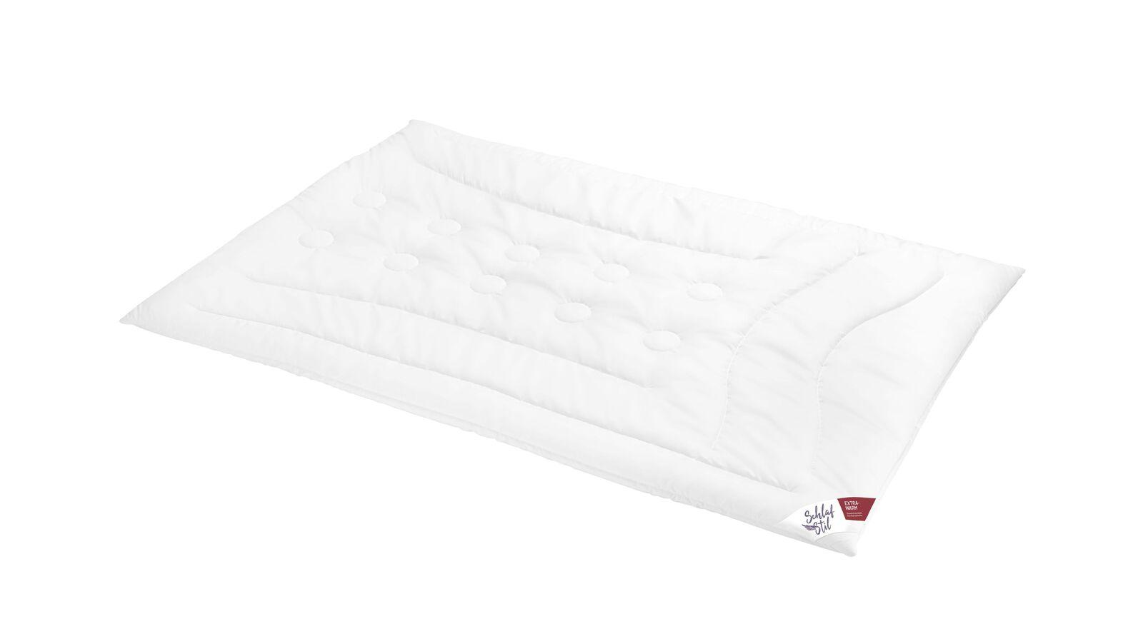 SCHLAFSTIL Markenfaser-Bettdecke F400 etxra warm für kalte Nächte