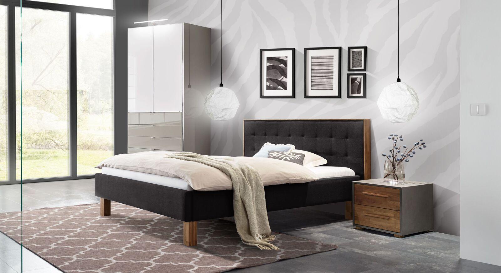 Schlafzimmer Cassian mit modernem Mobiliar