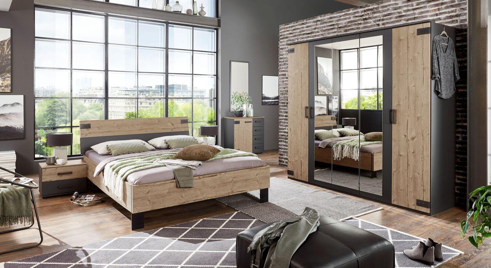 Schlafzimmer Midori mit pflegeleichter Dekor-Oberfläche