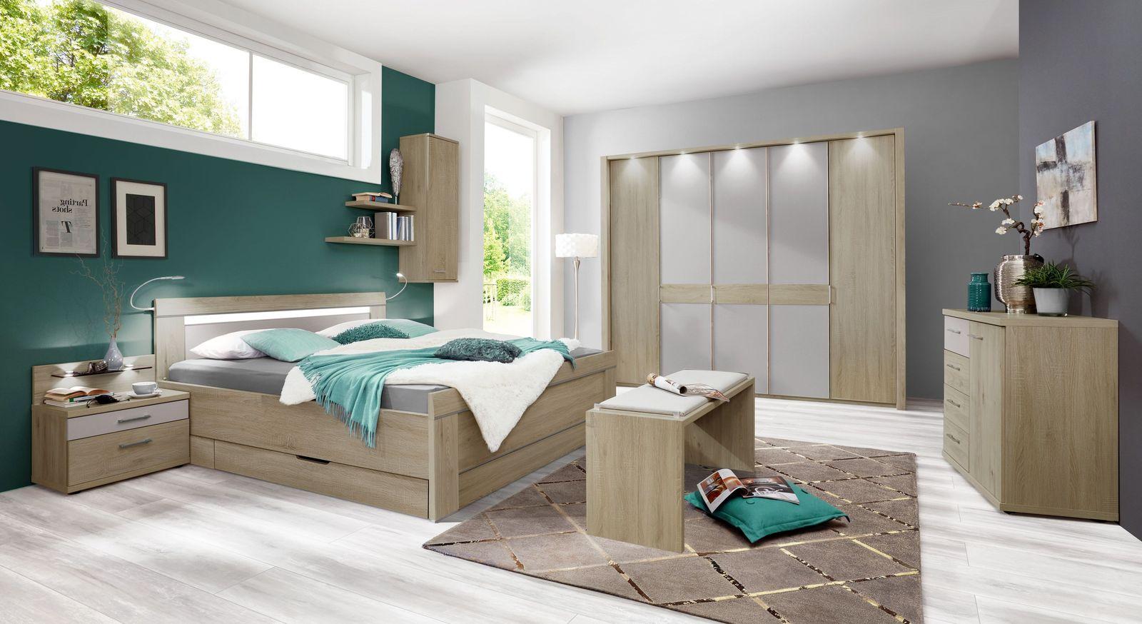 Schlafzimmer Pelham mit pflegeleichter Dekor-Oberfläche