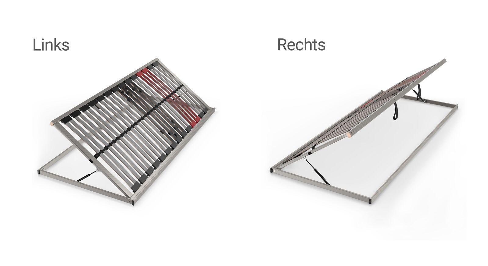 Verschiedene Ausführungen des SCHLARAFFIA Bettkasten-Lattenrosts Classic 28 Side Lift
