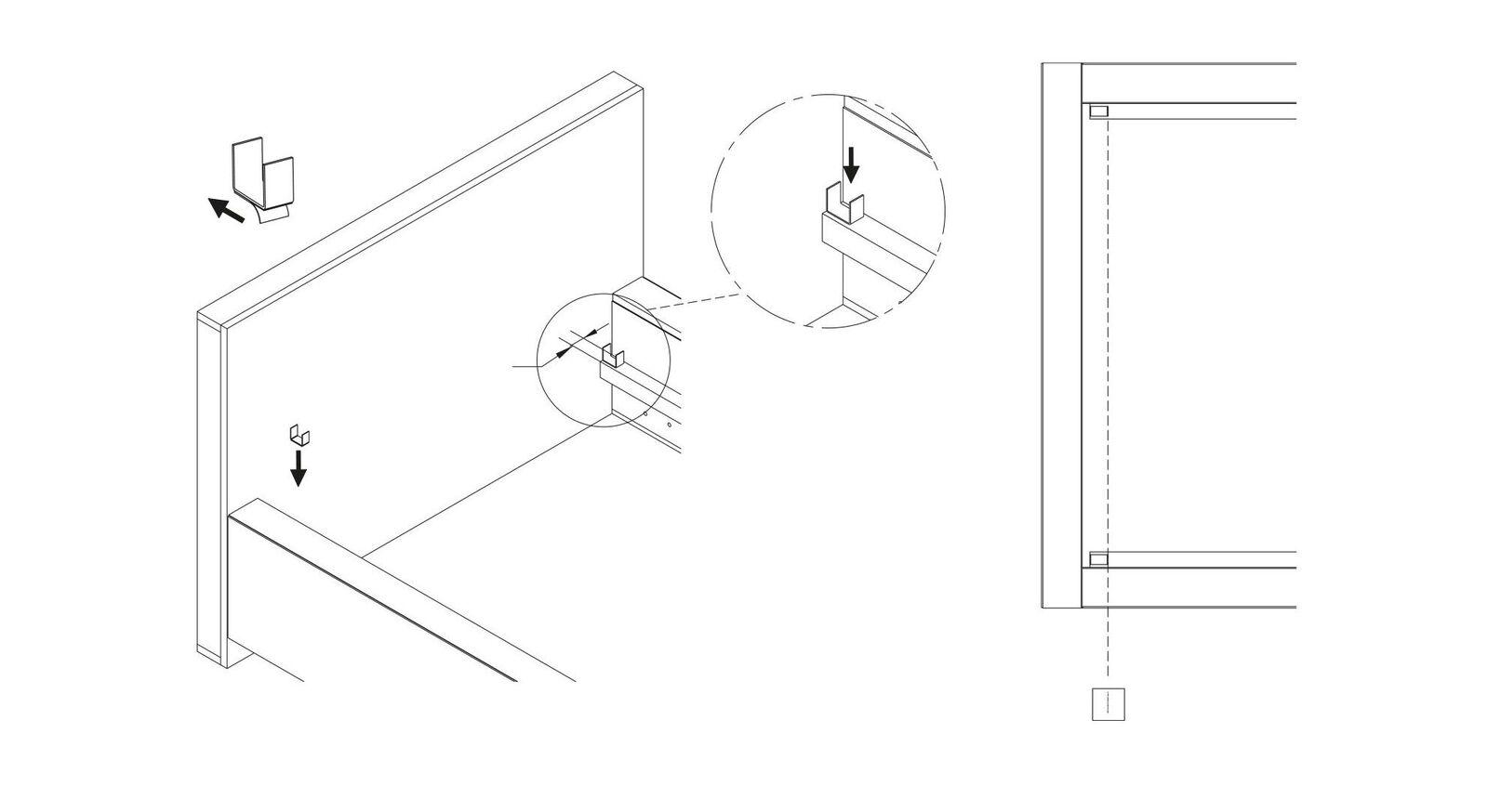 Grafik zur Befestigung vom SCHLARAFFIA Lattenrost Roll-n-Sleep
