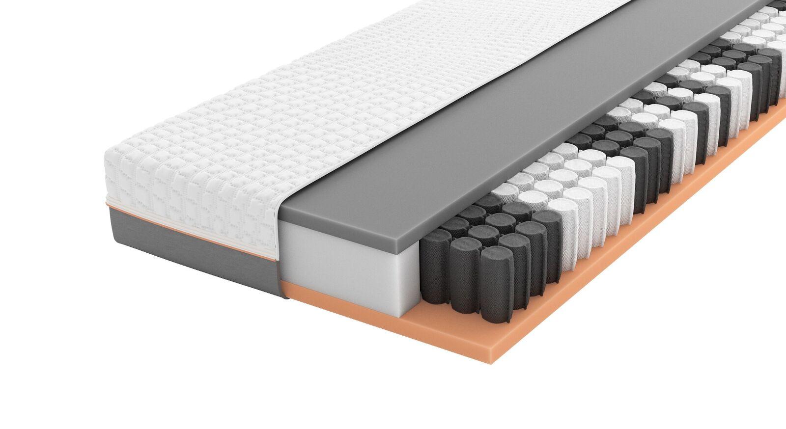 SCHLARAFFIA Taschenfederkern-Matratze GELTEX Solaris ZT TFK mit ergonomischem Kern