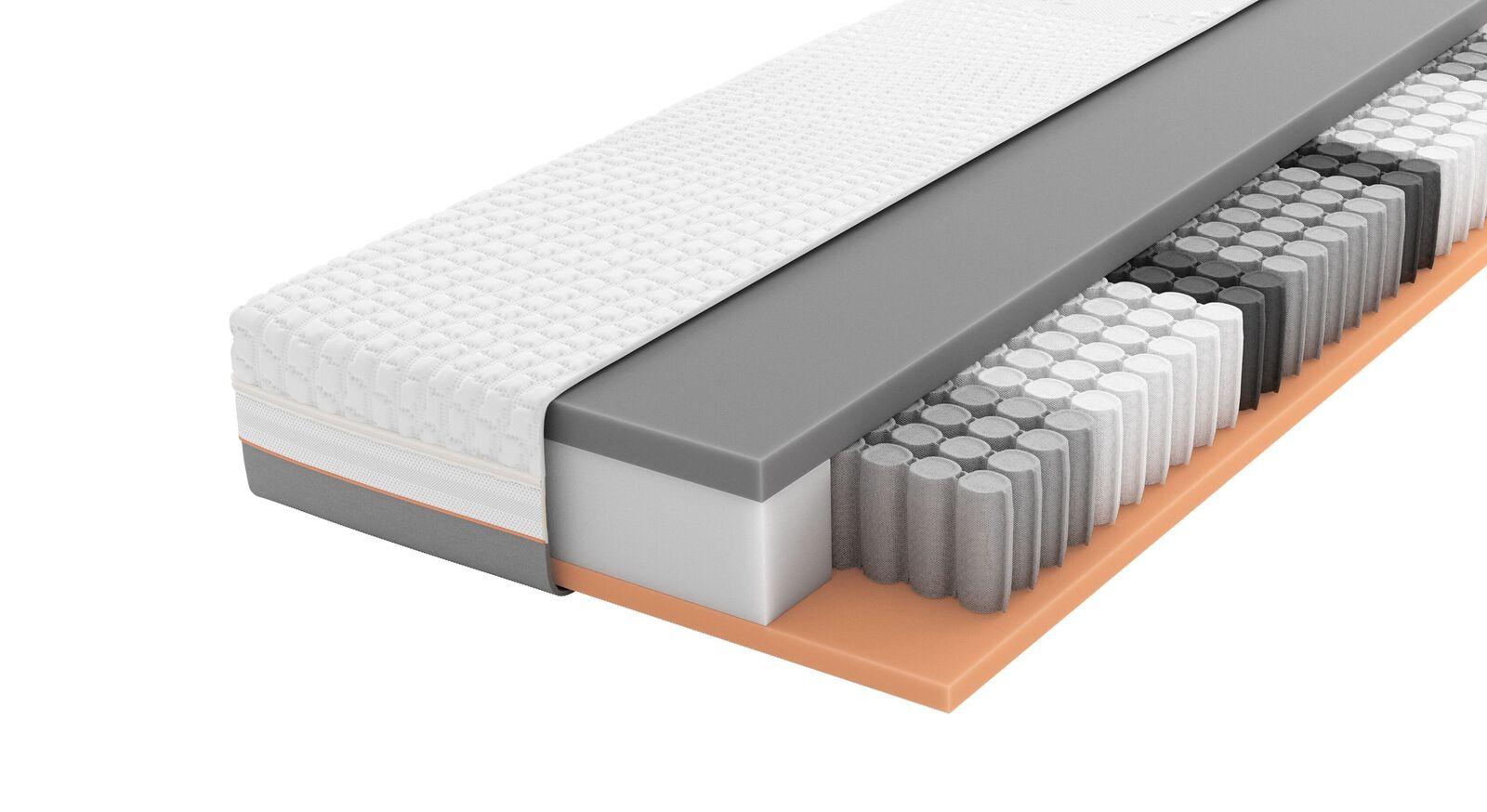 SCHLARAFFIA Taschenfederkern-Matratze GELTEX Solaris ZX TFK mit Xspring-Kern