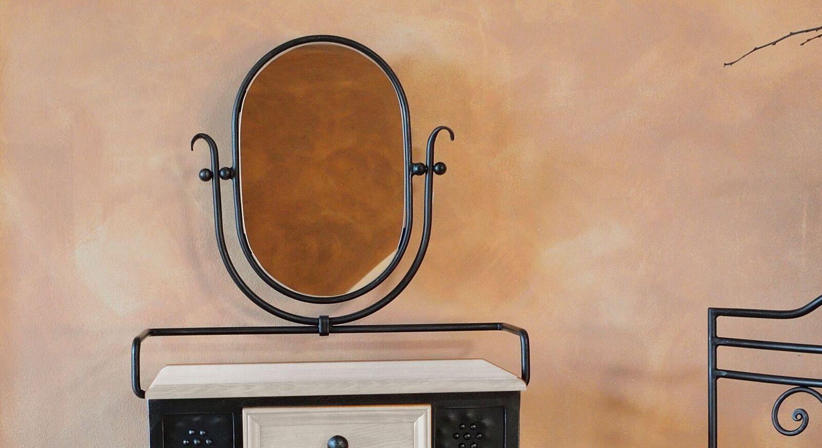 Schminktisch und Stuhl Loria mit schwenkbarem Spiegel