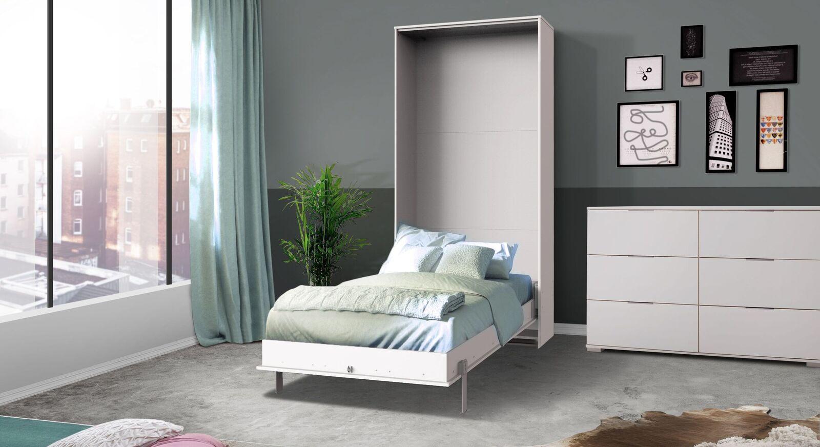 Schrankbett Milagro in klassischem Weiß