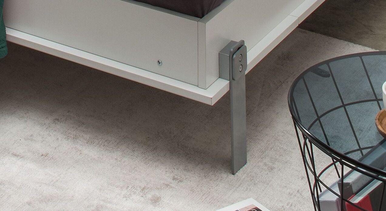 Schrankbett Tonoas mit modernen Metallfüßen
