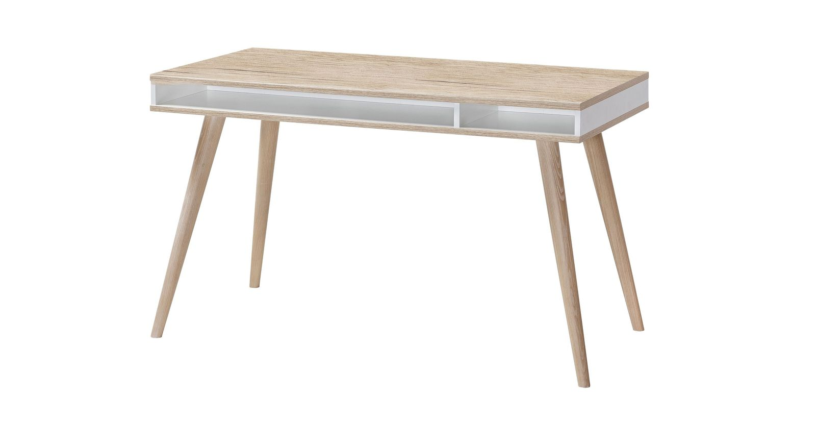 Schreibtisch Atina in trendigem Retro-Look