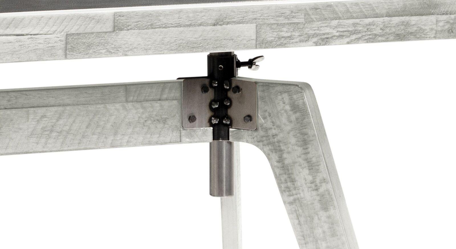 Schreibtisch Banvano höhenverstellbar mit Metall-Gewinde
