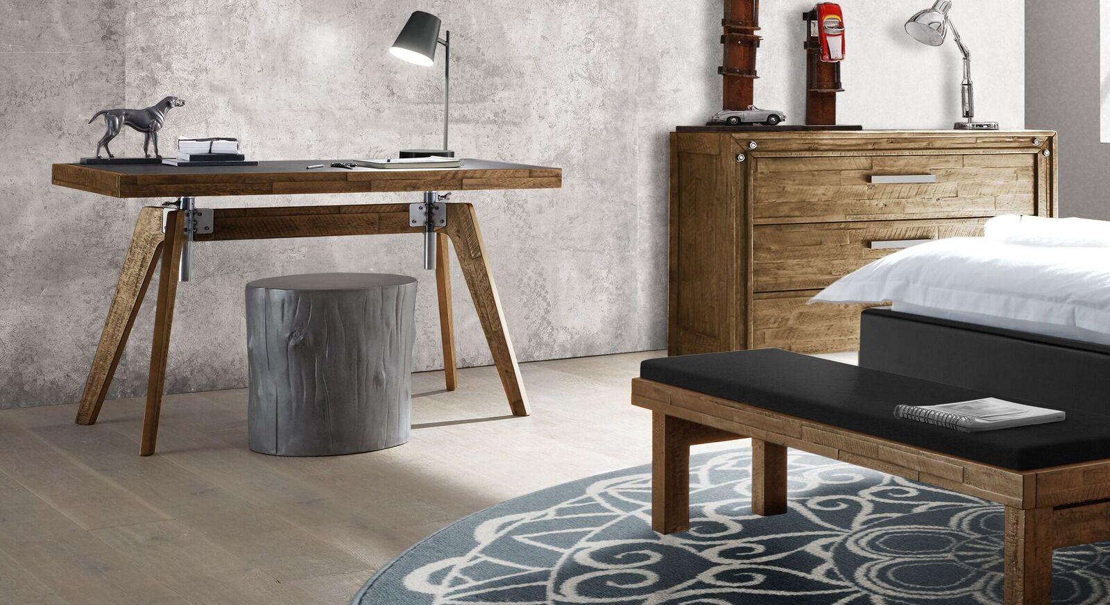 Schreibtisch Banvano höhenverstellbar mit passendem Zubehör