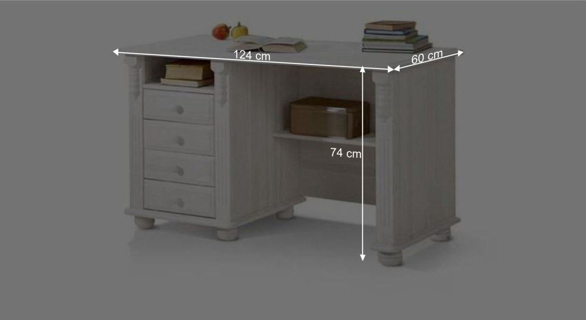 Schreibtisch Countrysides Bemaßungsgrafik