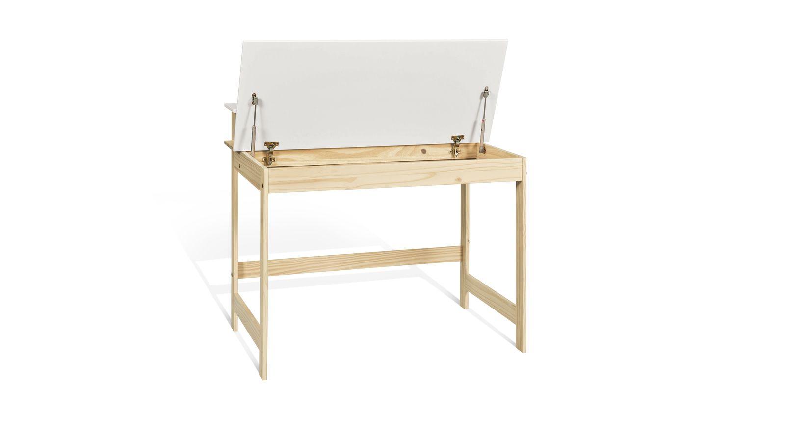 Schreibtisch Erin mit Stauraum unter der Tischplatte