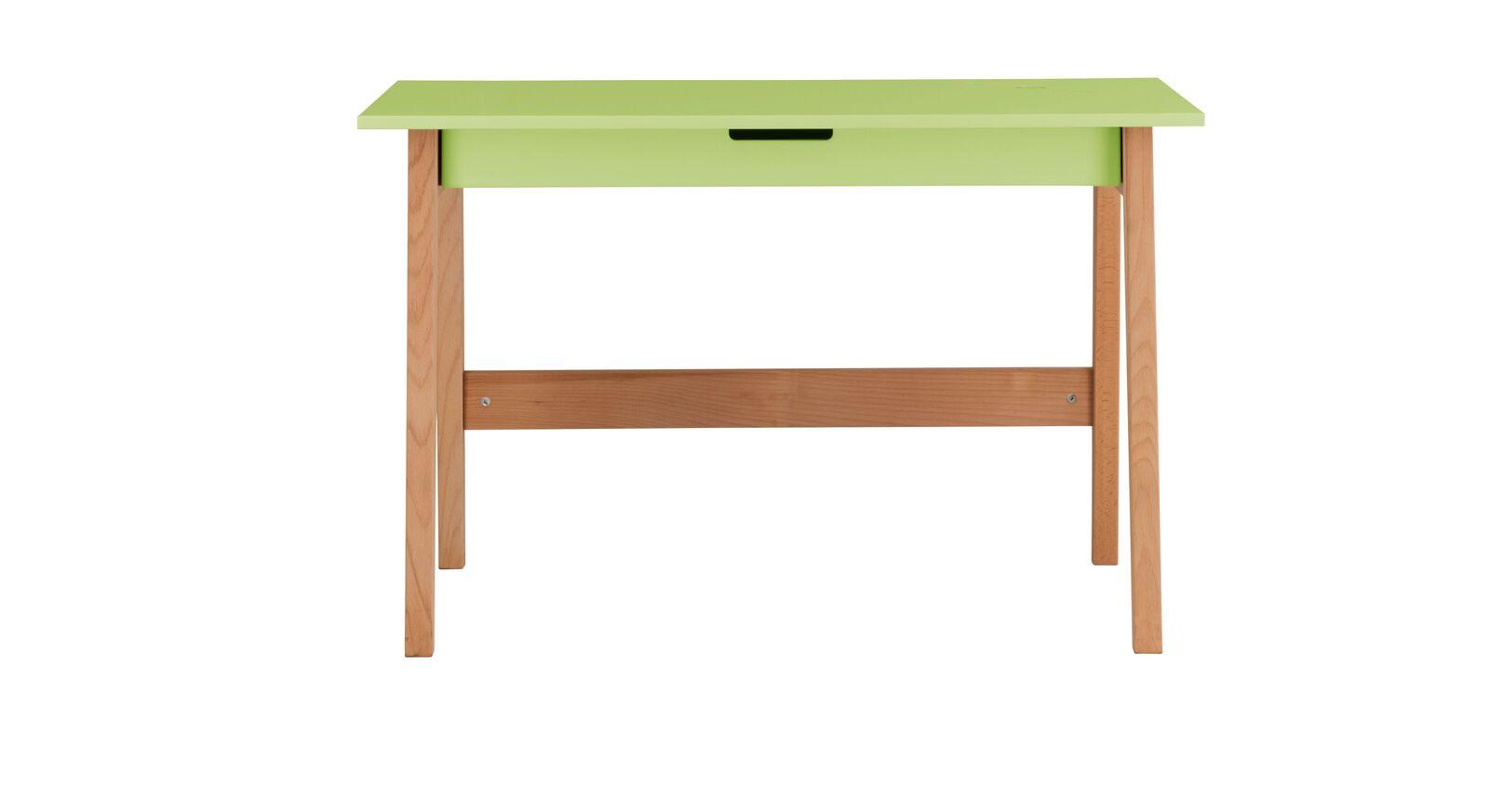 Schreibtisch Kids Nordic mit grüner Tischplatte