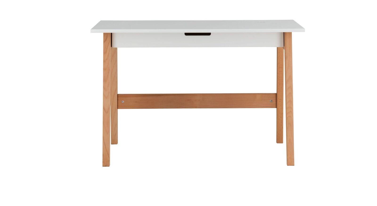 Schreibtisch Kids Nordic mit weißer Tischplatte