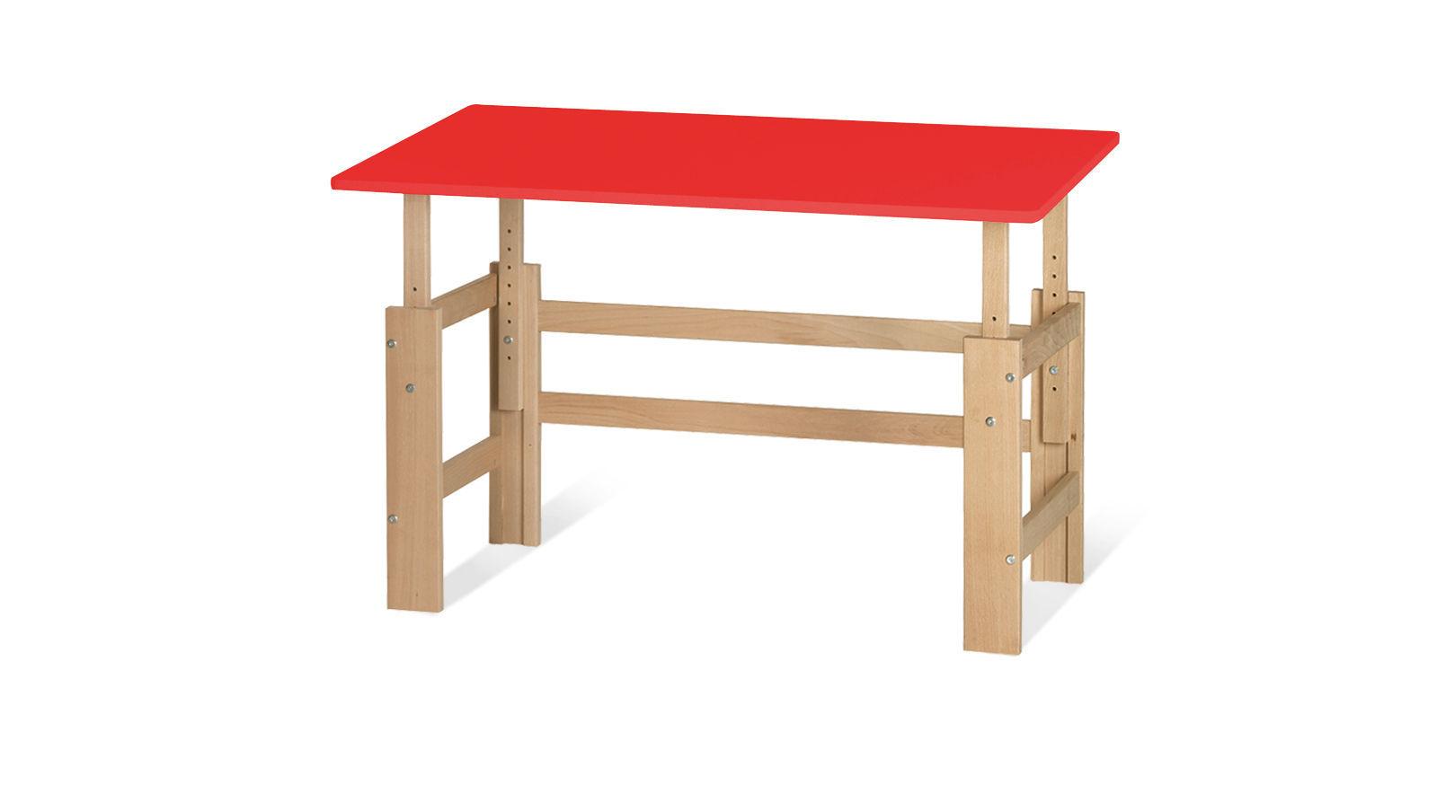 Schreibtisch Kids Town höhenverstellbar in Rot