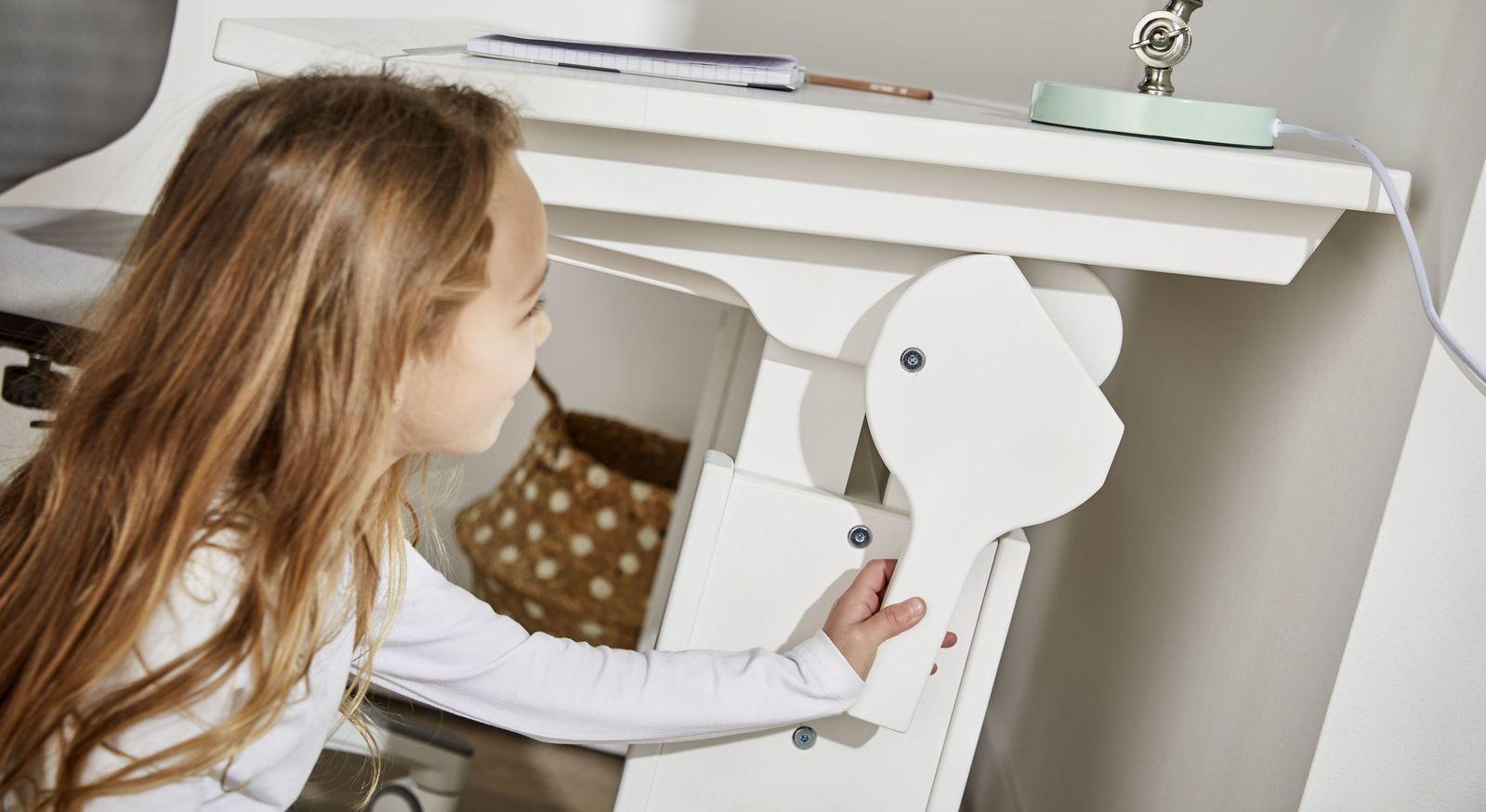Schreibtisch Original neigbar kinderleicht zu bedienen