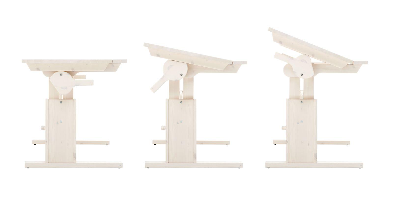 Schreibtisch Original neigbar mit praktischen Verstellungen