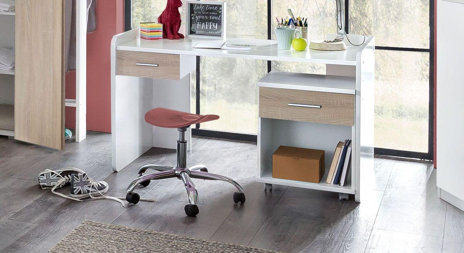 Höhenverstellbarer Schreibtisch Solero mit praktischer Schublade