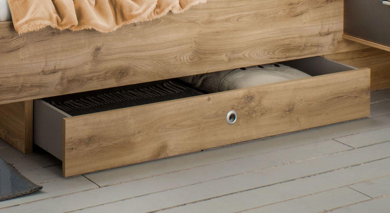 Schubkasten-Bett Alwara für zusätzlichen Stauraum