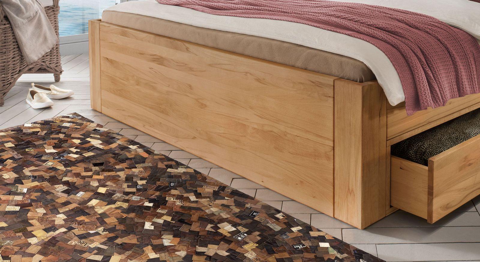 Schubkasten-Bett Aurach mit robustem Bettgestell