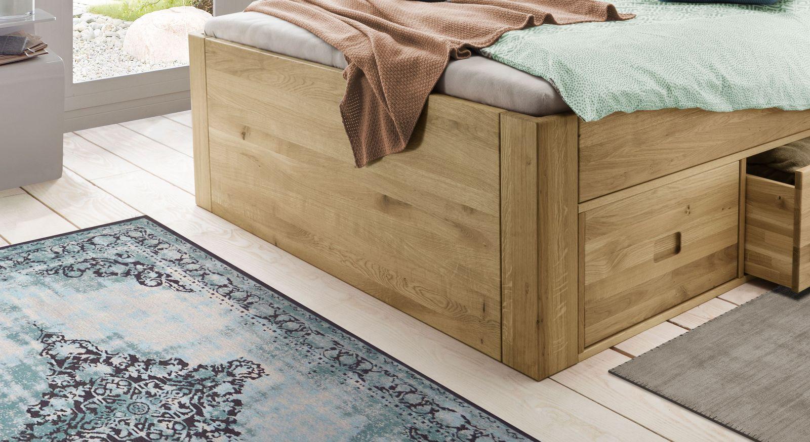 Schubkasten-Bett Blumau aus robustem Echtholz