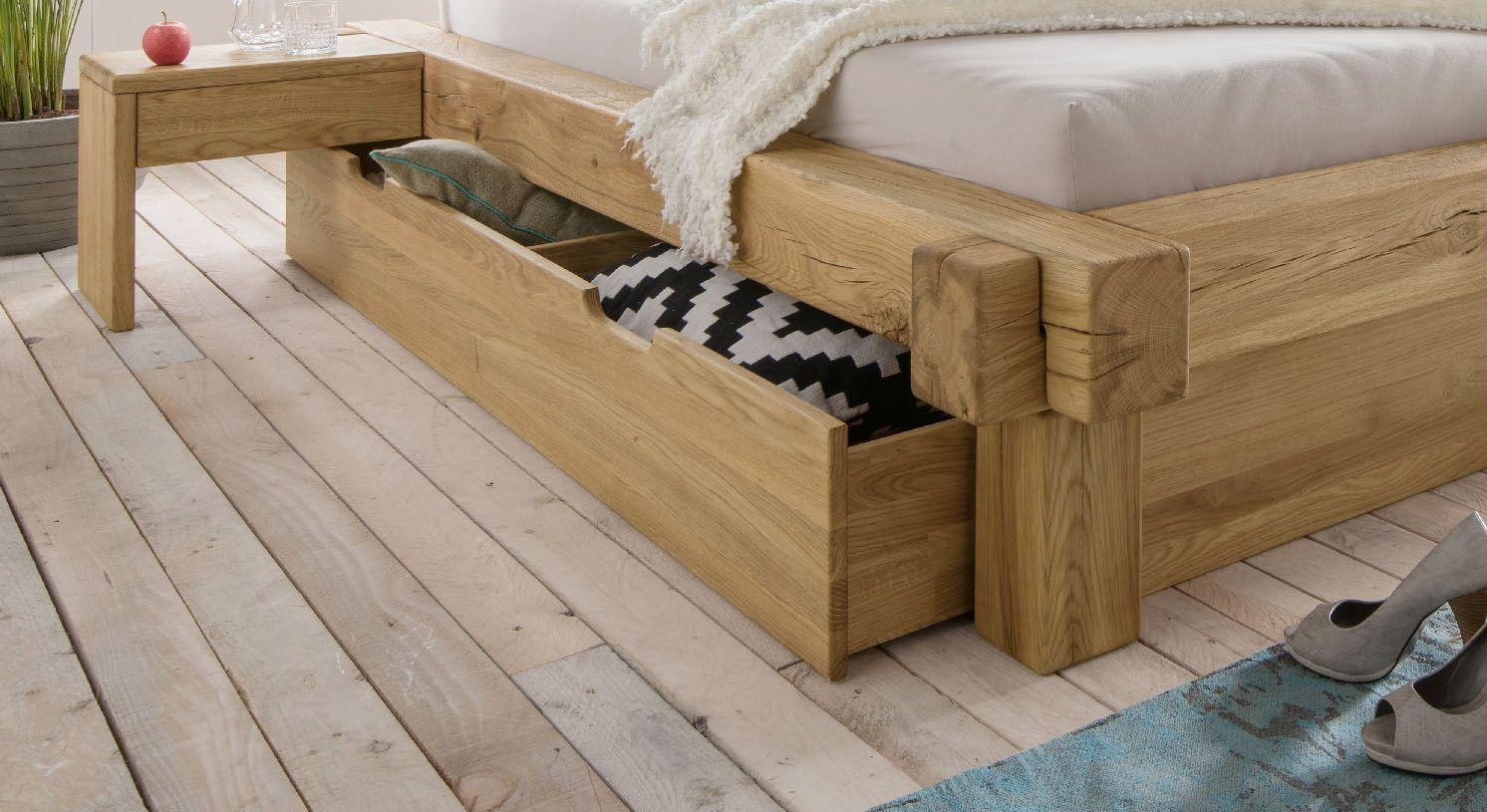 Schubkasten-Bett Doba mit Bettschubladen mit zwei Griffmulden