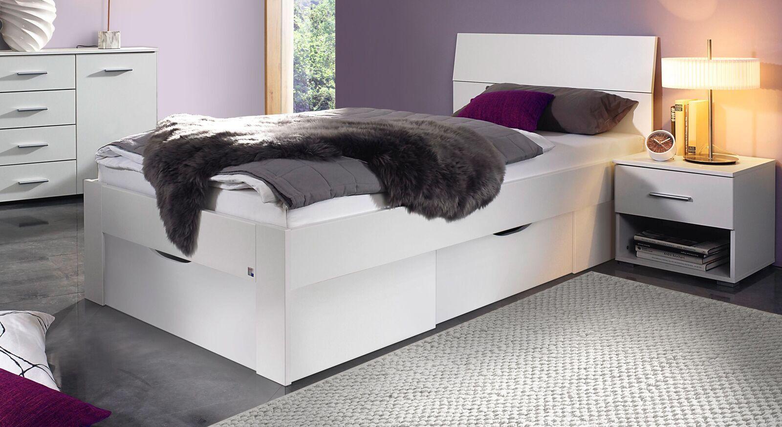 Schubkasten-Bett Leilani in Weiß