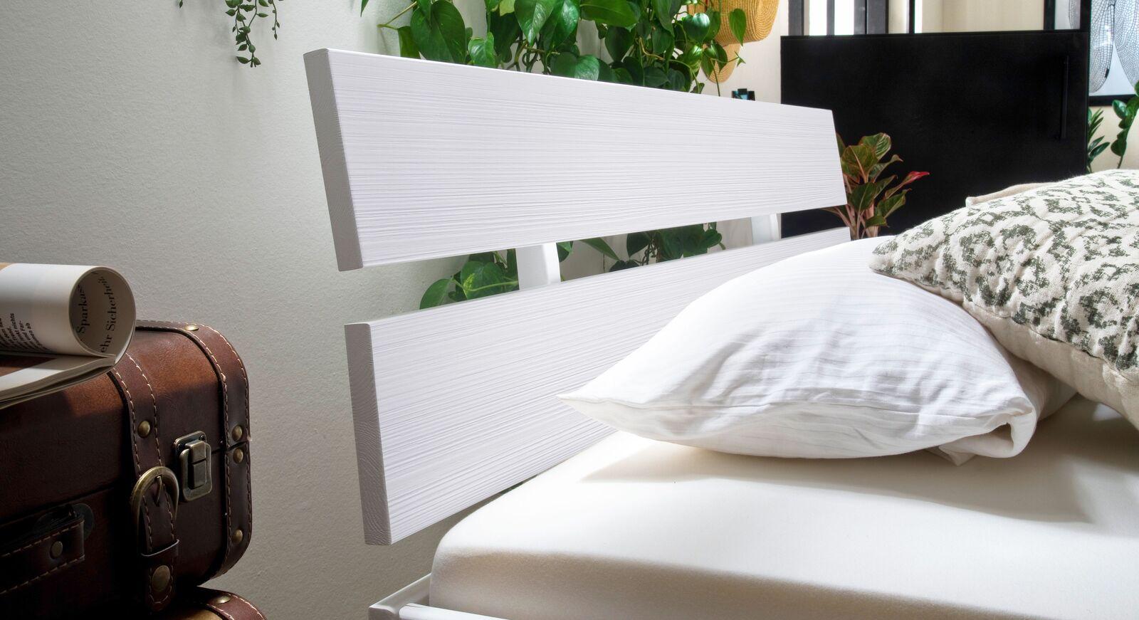 Schubkasten-Bett Ottena mit zweigeteiltem Kopfteil