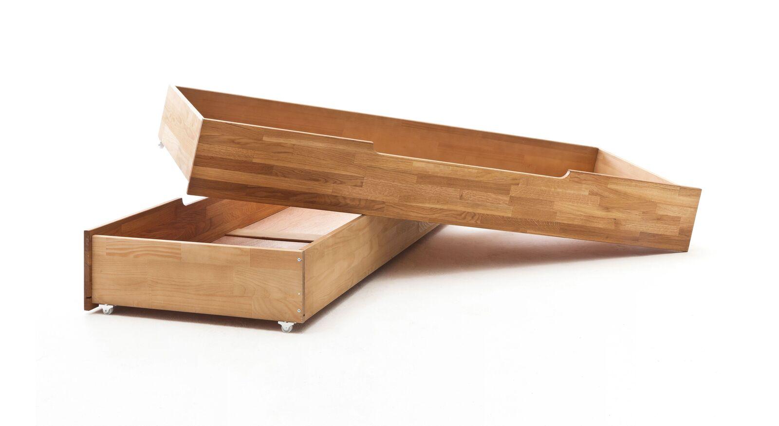 Schubkasten-Bett Pasjas Bettschublade auf leichtgängigen Rollen