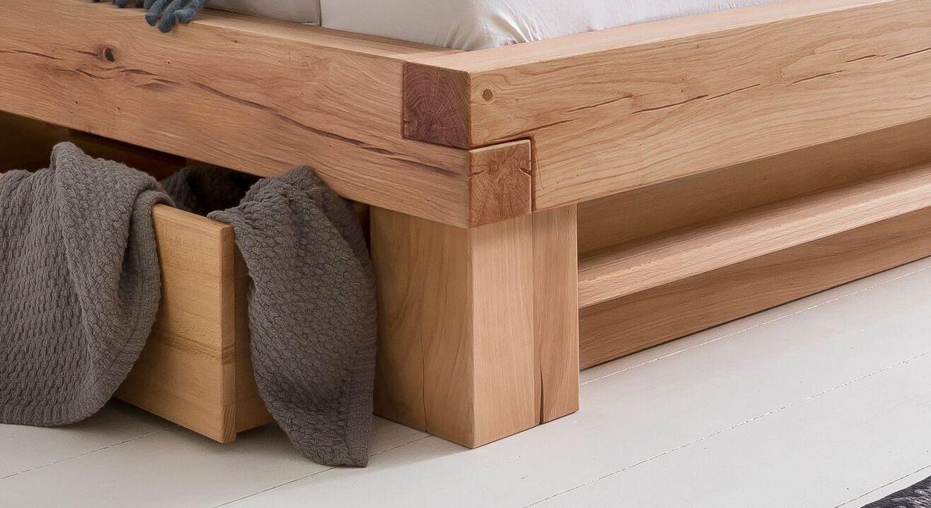 Schubkasten-Bett Sowas Eckverbindung mit Überblätterung