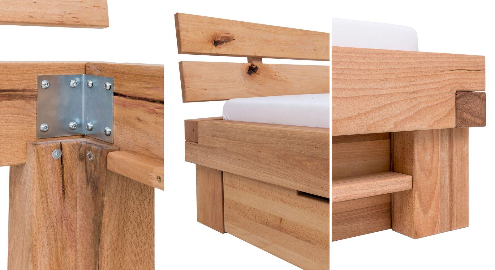 Hochwertiges Schubkasten-Bett Sowa aus Masssivholz