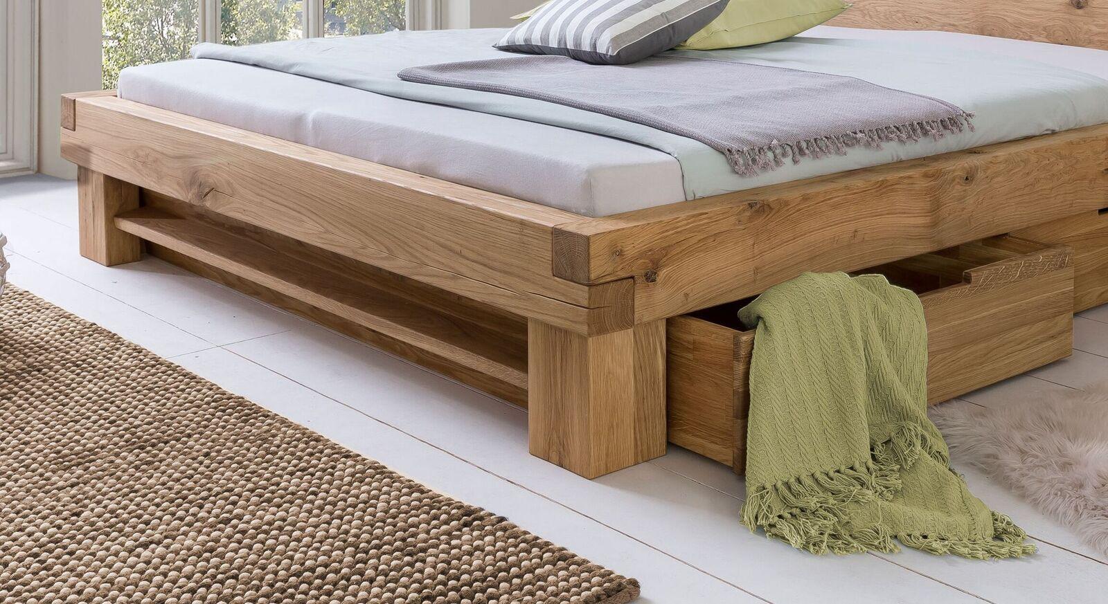 Schubkasten-Bett Tomba mit Blendenregal inklusive Ablagefach