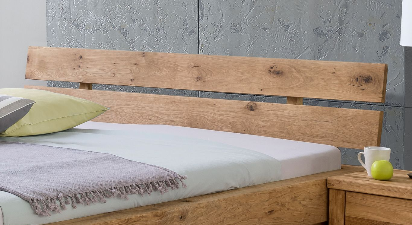Schubkasten-Bett Tomba mit geteiltem Kopfteil