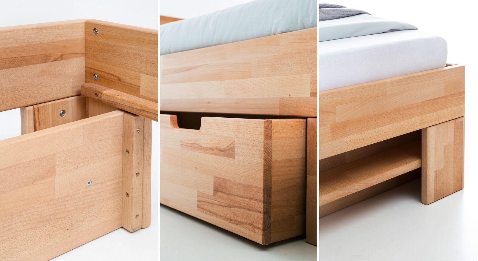 Qualitativ hochwertiges Schubkasten-Bett Valisia