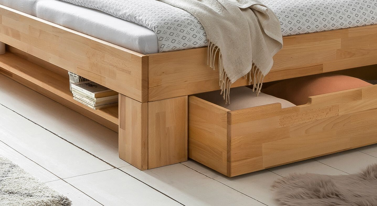 Schubkasten-Bett Valisia mit Stauraum-Möglichkeiten