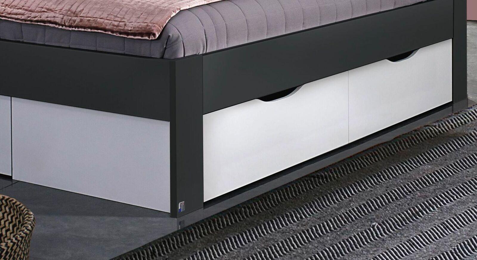 Schubkasten-Bett Zaida mit Schubkasten unter dem Bett
