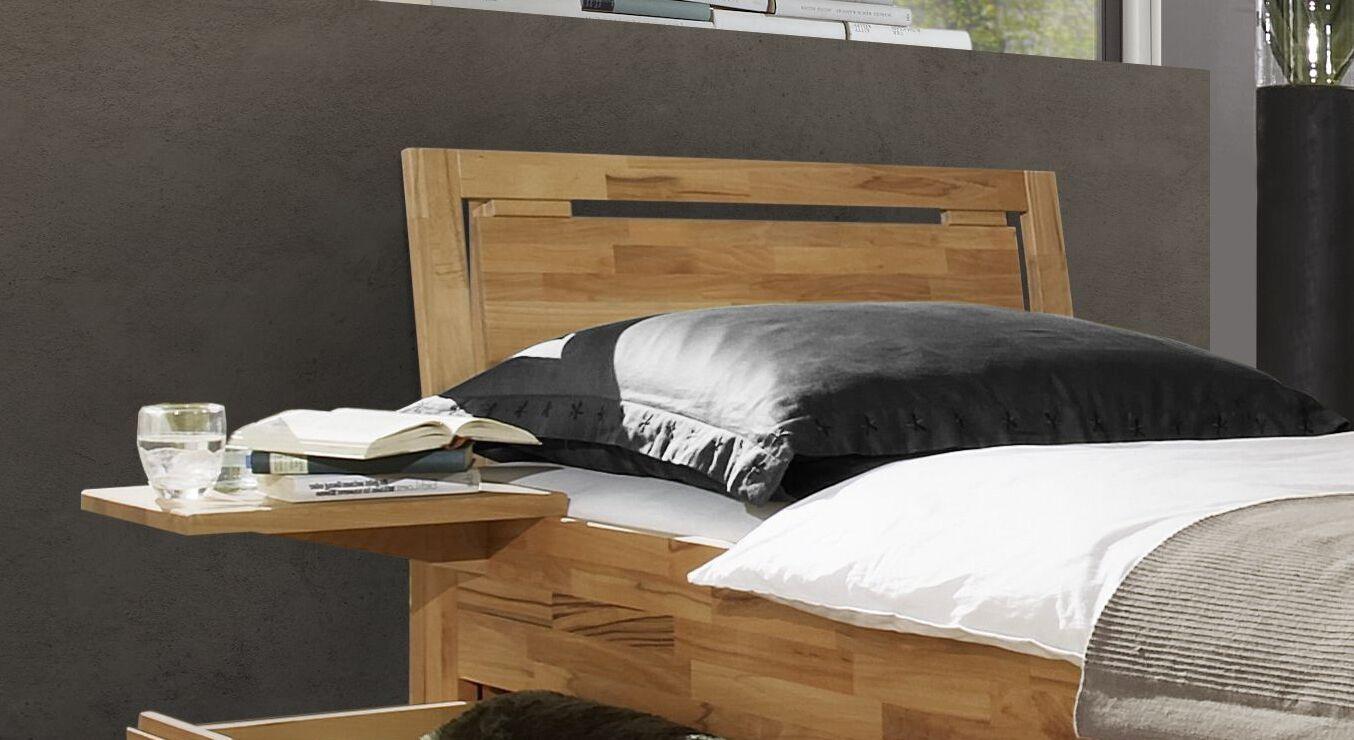 Schubkasten-Einzelbett Andalucia mit Kopfteil-Fräsung