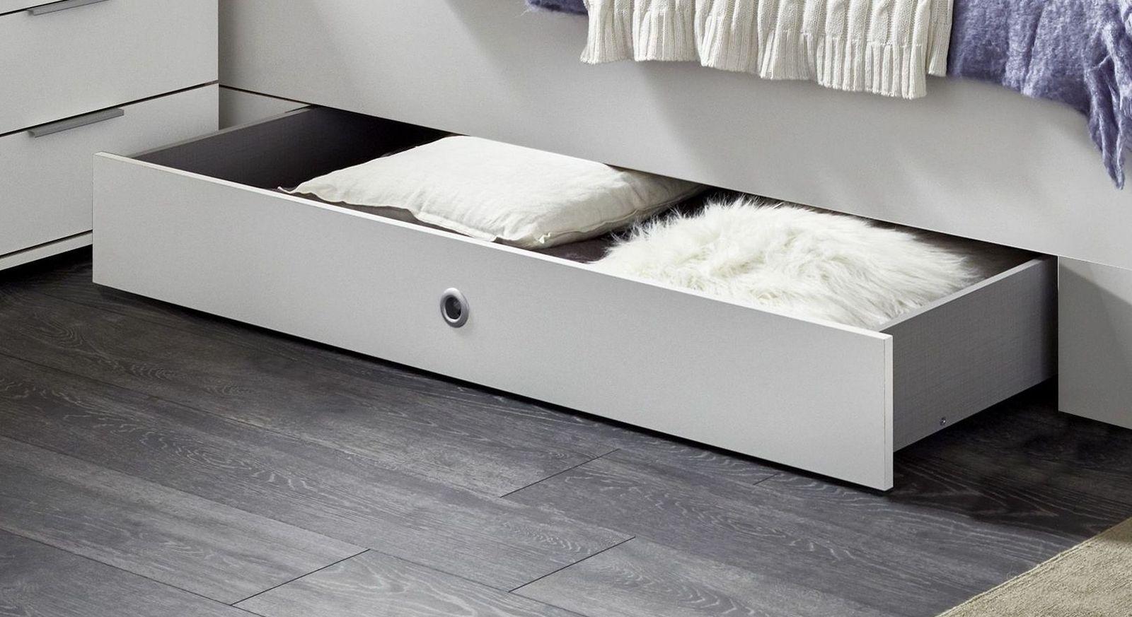 Schubkasten-Einzelbett Aradeo mit Stauraum unterm Bett