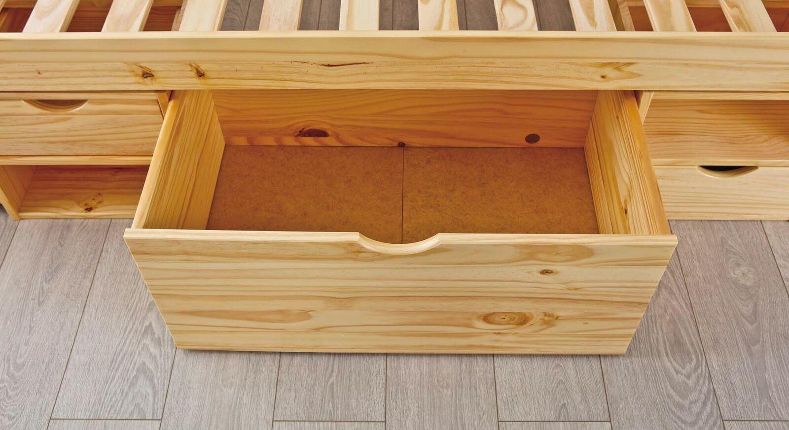 Schubkasten-Einzelbett Oslo mit breiter Schublade