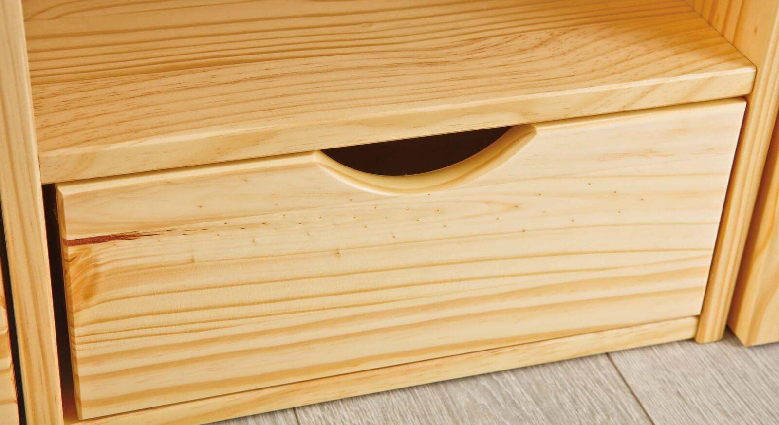 Schubkasten-Einzelbett Oslo mit praktischer Schublade