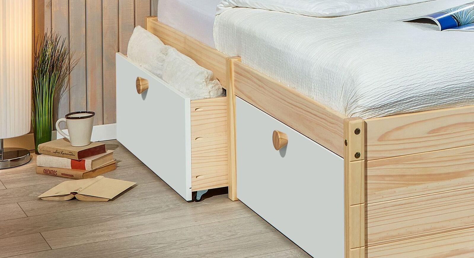 Schubkasten-Einzelbett Saffar mit praktischem Stauraum