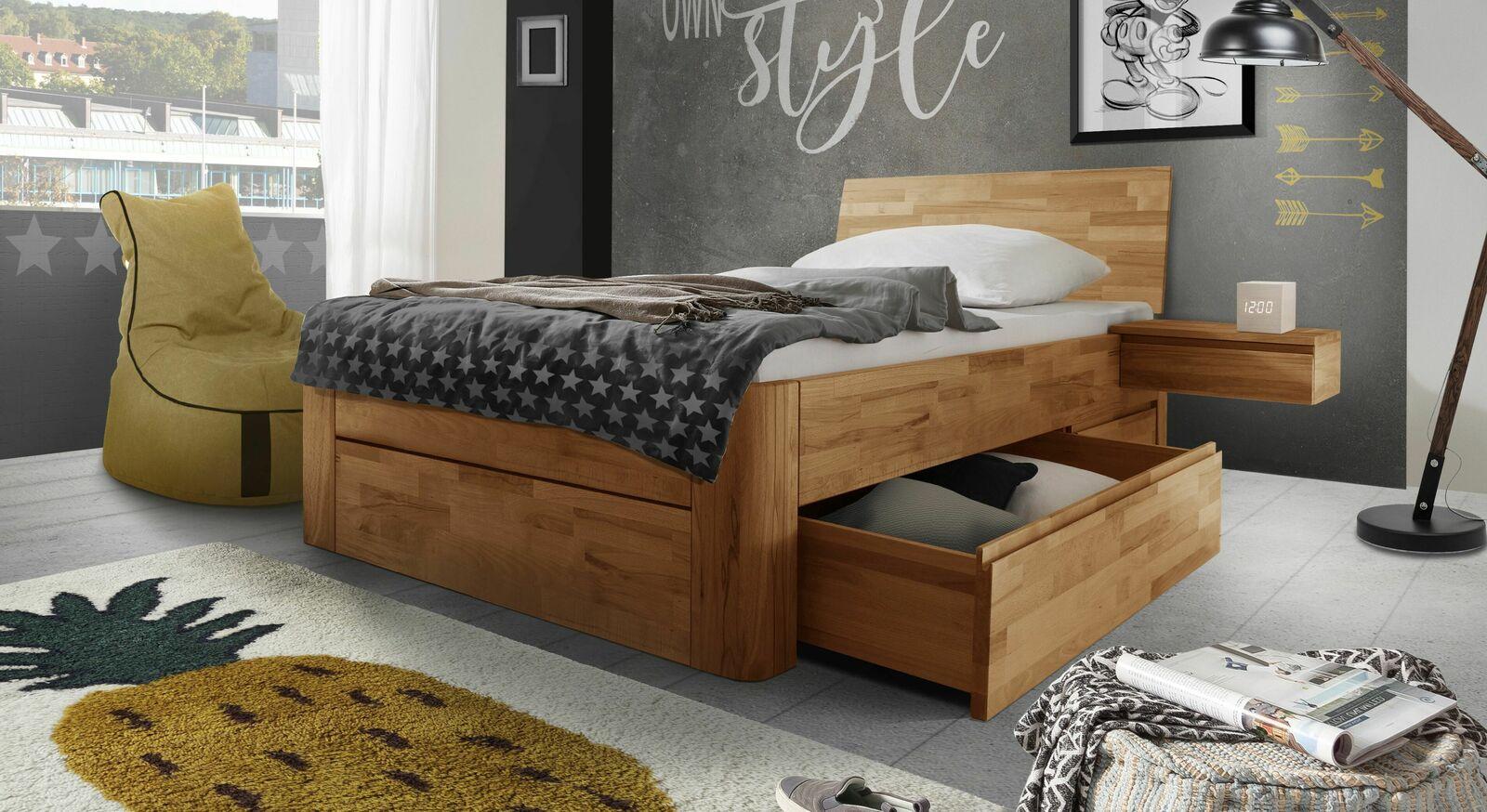 Schubkasten-Einzelbett Zarbo mit praktischer Stauraum-Möglichkeit