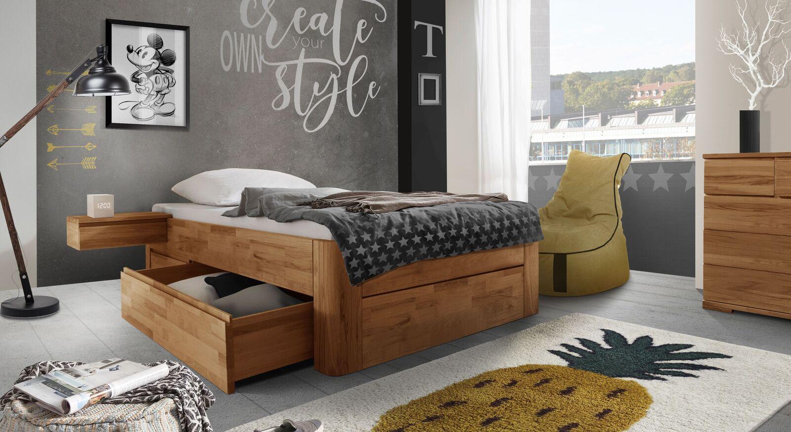 Schubkasten-Einzelliegen Zarbo mit passenden Möbeln