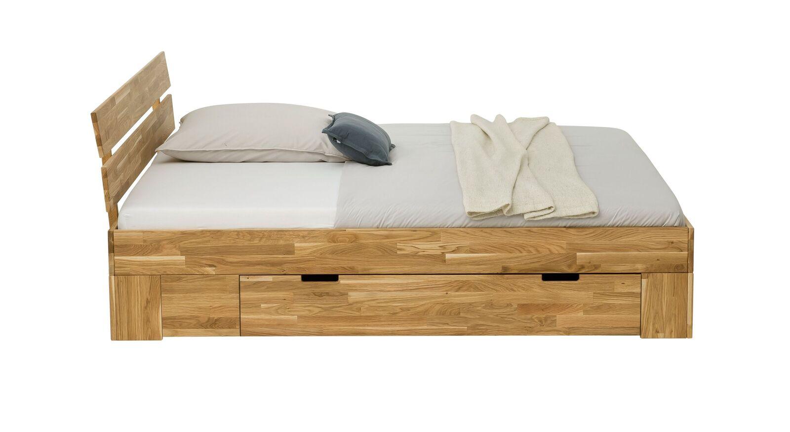 Schubkastenbett Kanata mit zwei Griffmulden