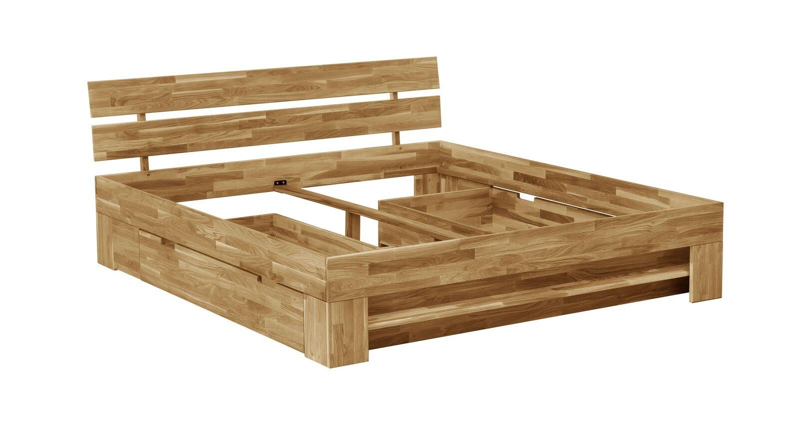Schubkastenbett Kanata mit integriertem Stauraum