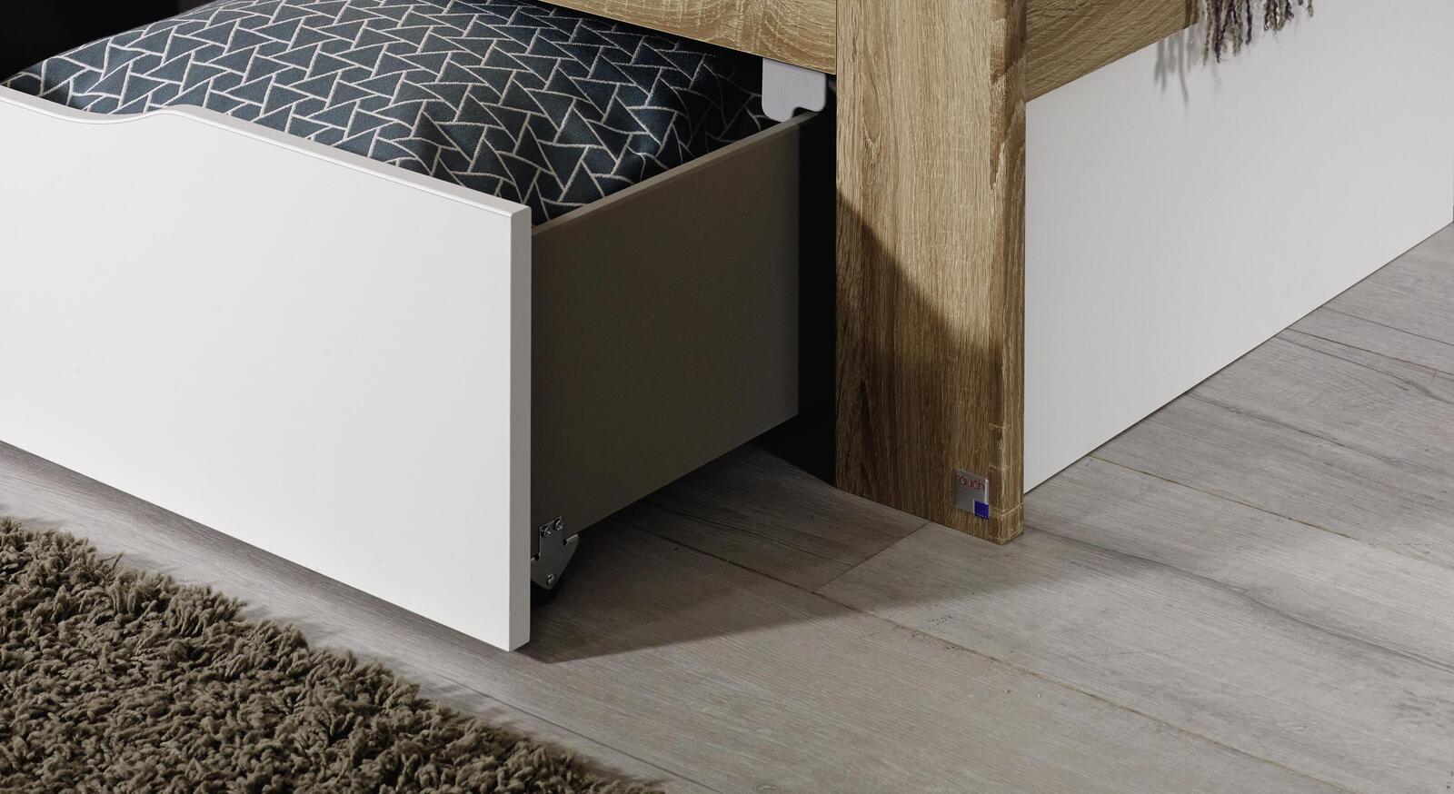 Schubkastenbett Oliana mit praktischem Stauraum